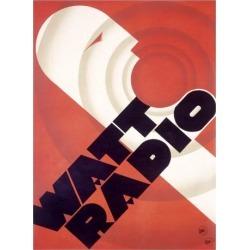 Giclee Painting: Watt Radio Station, 24x18in.