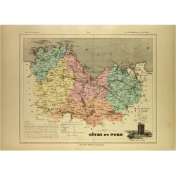 Giclee Painting: Map of Côtes Du Nord France, 24x18in. found on Bargain Bro India from Allposters.com for $27.99