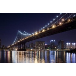 Poster: Souders' Manhattan Bridge, New York City, 24x16in.