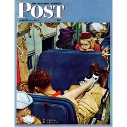"""Giclee Painting: Rockwell's """"Travel Experience"""" Saturday Evening Post"""