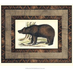 Giclee Painting: Rustic Bear, 13x15in.