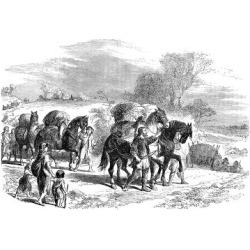 Giclee Painting: Carrying Bread to London on Pack-Horses, C1895, 24x16