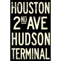 Poster: New York City Houston Hudson Vintage RetroMetro Subway Poster,