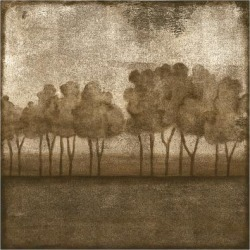 Stretched Canvas Print: Slocum's Art Print: Trees at Dusk Art Print by