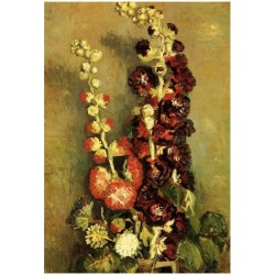 Poster: Vincent Van Gogh Vase with Hollyhocks Art Print Poster, 19x13i found on Bargain Bro from Allposters.com for USD $6.83