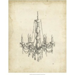 Giclee Painting: Harper's Art Print: Classical Chandelier Wall Art by