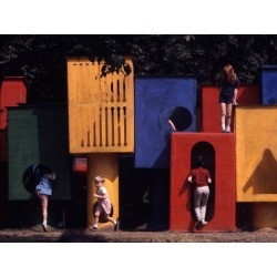 Poster: Zimmerman's Children at Play in New York City Playgrounds, 24x