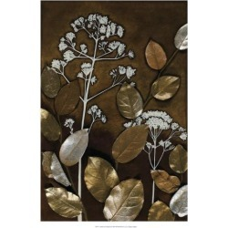 Giclee Painting: Meagher's Art Print: Gilded Leaf Collage Wall Art by