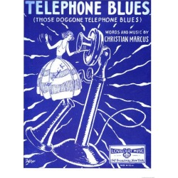 Giclee Painting: Telephone Blues Sheet Music, USA, 1920, 24x18in.