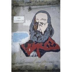 Giclee Painting: Portrait of Giuseppe Garibaldi (1807-1882), Mural in
