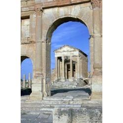 Poster: Dixon's View of the Capitoline Temple in Sufetula, 1st Century