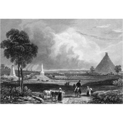 Giclee Painting: Waterloo Battlefield, 24x16in.