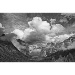 Poster: Ford's USA, California, Yosemite, Bridalveil Falls, 24x16in.