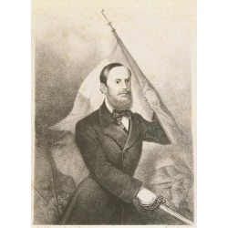 Giclee Painting: Portrait of Carlo Pisacane, 1818 - 1857, Patriot and
