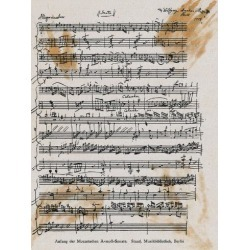 Poster: Sheet Music with Mozart's Signature, 24x18in.