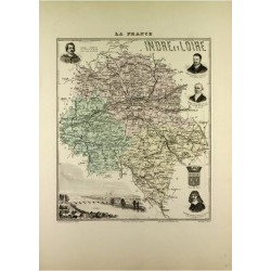 Giclee Painting: Map of Indre and Loire 1896, France, 24x18in. found on Bargain Bro India from Allposters.com for $27.99