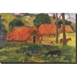 Stretched Canvas Print: Gauguin's Village in Tahiti, 20x30in.