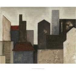 Giclee Painting: Meagher's Art Print: Abstract Metropolis Art Print by