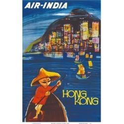 Art Print: Cowasji's Hong Kong Maharaja - Air India, 18x12in.
