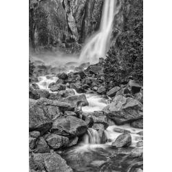 Poster: Ford's USA, California, Yosemite, Bridlevale Falls, 12x8in.