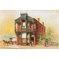 Art Print: Victorian House, No. 16, 12x16in.