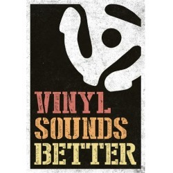 Poster: Vinyl Sounds Better Music Poster, 19x13in.