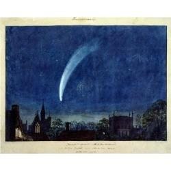 Giclee Painting: Turner's Art Print: Donati's Comet, 1858 Art Print by