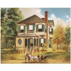 Art Print: Victorian House, No. 10, 9x12in.