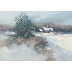 Giclee Painting: Swayhoover's Dovetail Farm, 36x49in.