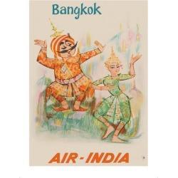 Giclee Painting: Unknown's Bangkok, Thailand - Air India - Maharaja wi