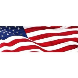 Giclee Painting: Pnoramic American Flag, 44x56in.