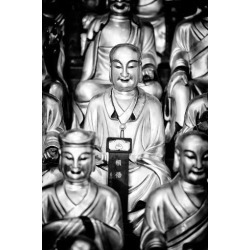 Poster: Hugonnard's China 10MKm2 Collection - Gold Buddhist Statue in