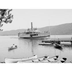 Photo Print: Boat House at Rogers Slide, Lake George, N.Y, 24x18in.