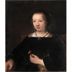 Giclee Painting: Rembrandt van Rijn's Young Woman with a Carnation, 16 found on Bargain Bro Philippines from Allposters.com for $69.99