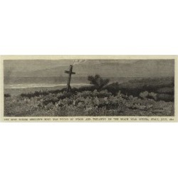 Giclee Painting: The Spot Where Shelley's Body Was Found by Byron and
