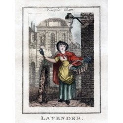 Giclee Painting: Lavender, Temple Bar, London, 1805, 24x18in.