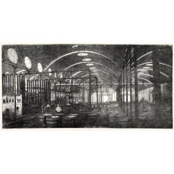 Giclee Painting: The Bromborough Pool Candle-Works Interior View under