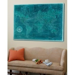 Loft Art: Vision Studio's Azure World Map, 54x72in. found on Bargain Bro from Allposters.com for USD $357.16