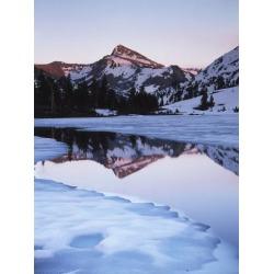 Poster: Frank's California, Sierra Nevada Mts, Dana Peak Reflecting in