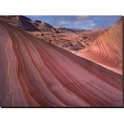 Stretched Canvas Print: Fitzharris' The Wave, a Navajo sandstone forma