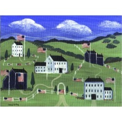 Giclee Painting: Bartley's American Village, 24x18in.