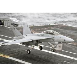 Giclee Painting: Super Hornet Carrier Landing, 9x12in.