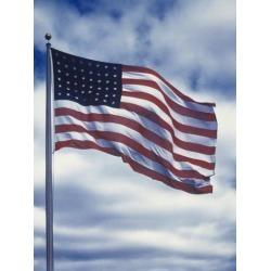 Poster: Kessel's 48 Star American Flag, 16x12in.