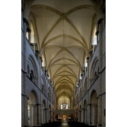 Poster: Vault of Central Nave of Chichester Cathedral (681-1108), West