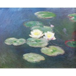 Art Print: Water Lilies, Effects at the Evening Art Print by Claude Monet by Claude Monet: 9x12in found on Bargain Bro from Art.com for USD $17.48
