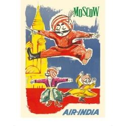 Premium Giclee Print: Moscow Russia - Air India Mascot Maharaja - Barynya Russian Folk Dance by J.B. Cowasji: 16x12in