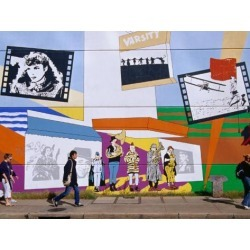 Photographic Print: Mural on the Tower Records Building on Guadalupe Street, Austin's University Area, Austin, Texas by Richard Cummins: 24x18in found on Bargain Bro Philippines from Art.com for $25.00