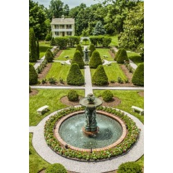 Photographic Print: The Garden at Antrim 1844, a Restored Plantation House in Taneytown, Maryland by Richard Nowitz: 24x16in