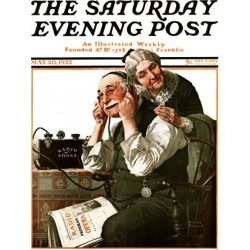 Giclee Print: Radio Art Print by Norman Rockwell by Norman Rockwell: 24x18in