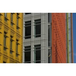 Photo: Colourful, Facade of Office Building, London, England by Natalie Tepper: 24x16in